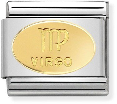 Nomination Gold Virgo Oval Zodiac Charm  - Click to view larger image