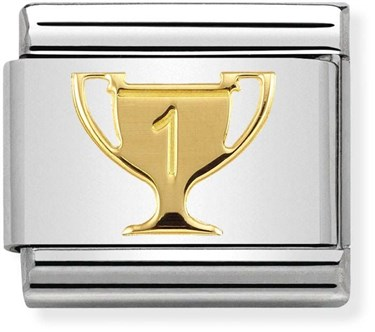 Nomination Gold Winners Trophy Charm  - Click to view larger image