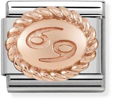 Nomination Rose Gold Cancer Oval Zodiac Charm  - Click to view larger image
