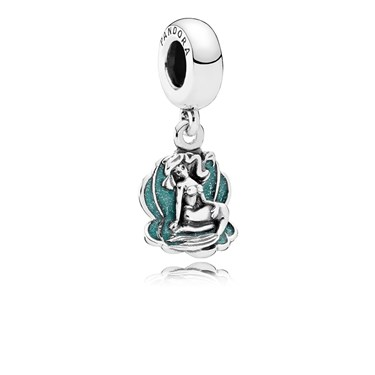 Pandora Disney Ariel & Sea Shell Pendant Charm  - Click to view larger image