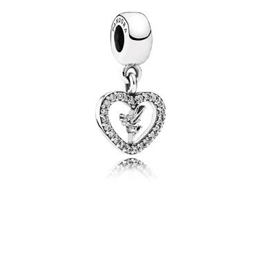 Pandora Disney Love Tinkerbell Pendant Charm  - Click to view larger image