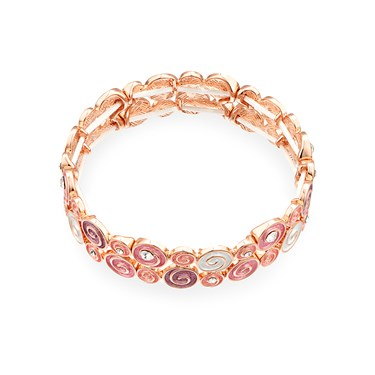 August Woods Blush Swirl Bracelet  - Click to view larger image