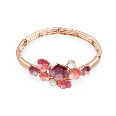 August Woods Blush Floral Bloom Bracelet  - Click to view larger image