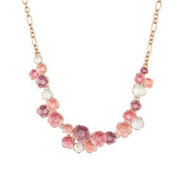 August Woods Blush Floral Bloom Necklace  - Click to view larger image