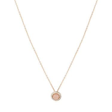 August Woods Pink Moonstone Circle Necklace  - Click to view larger image