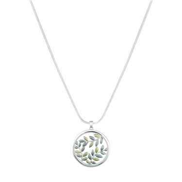 August Woods Green Leaf Necklace  - Click to view larger image
