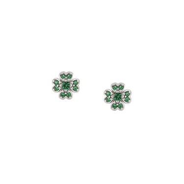 Nomination Gioie Silver Green Clover Earrings Click To View Larger Image