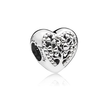 Pandora Flourishing Hearts Charm  - Click to view larger image