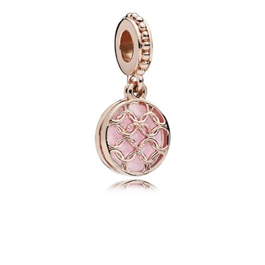 Pandora Rose Pattern of Love Pendant Charm  - Click to view larger image