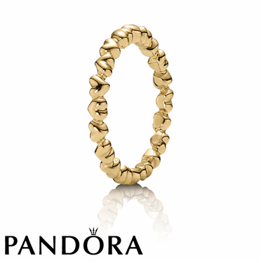 Pandora Gold Heart Ring