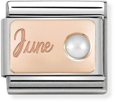 Nomination Rose Gold June Pearl Charm  - Click to view larger image