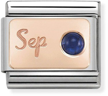 Nomination Rose Gold September Sapphire Charm  - Click to view larger image