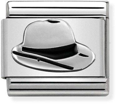 Nomination Silver Oxidised Panama Hat Charm  - Click to view larger image