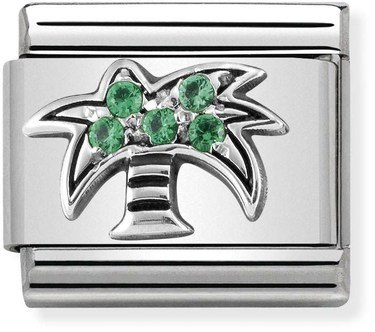 Nomination Sparkling Green Palm Tree Charm - Click to view larger image def876875103