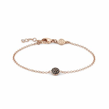 Nomination Gioie Rose Gold & Black Circle Bracelet  - Click to view larger image