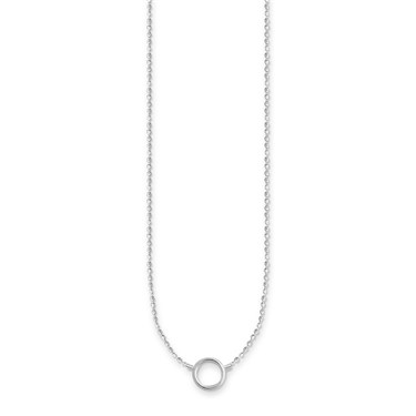 Thomas Sabo Circle Silver Charm Necklace   - Click to view larger image