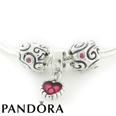 Pandora Swirly Heart Necklace