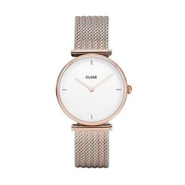 CLUSE Triomphe Rose gold Mix Mesh Watch  - Click to view larger image
