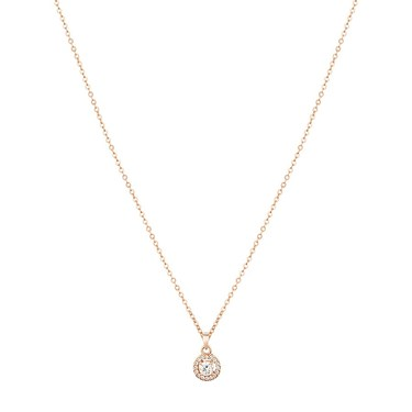 August Woods Rose Gold Crystal Halo Necklace  - Click to view larger image