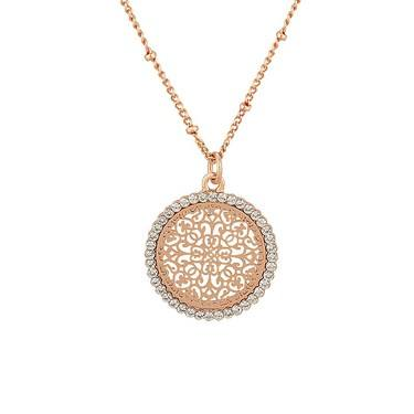 August Woods Rose Gold Arabesque Necklace  - Click to view larger image