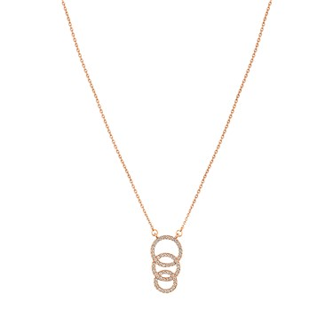 August Woods Rose Gold Interlocking Circles Necklace  - Click to view larger image