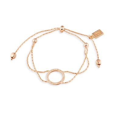 August Woods Rose Gold Open Circle Bracelet  - Click to view larger image