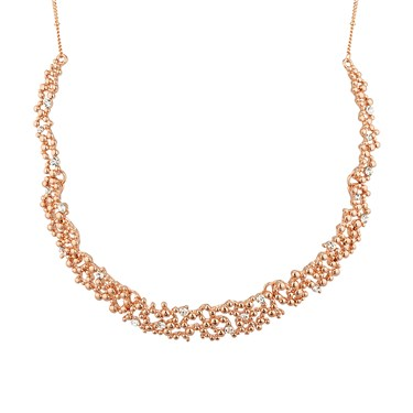 August Woods Crystal Touch Rose Gold Necklace  - Click to view larger image