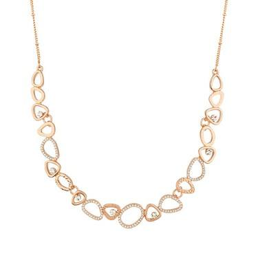 August Woods Rose Gold Open Circle Necklace  - Click to view larger image