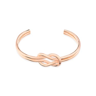 August Woods Rose Gold Knot Bangle  - Click to view larger image