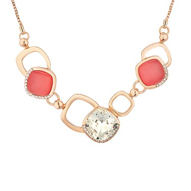 August Woods Rose Gold & Coral Necklace  - Click to view larger image