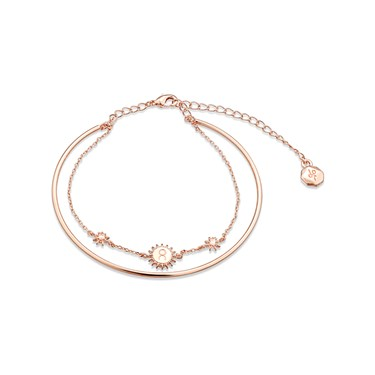 Dirty Ruby Rose Gold Layer CZ Taurus Bracelet  - Click to view larger image