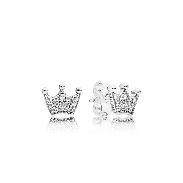 Pandora Enchanted Crowns Stud Earrings  - Click to view larger image
