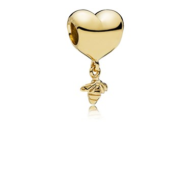 Pandora Shine Heart & Bee Charm  - Click to view larger image