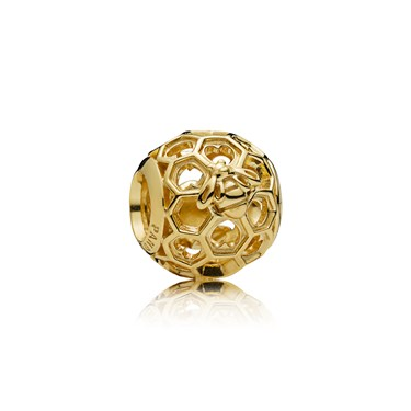 PANDORA Shine Honeybee Charm  - Click to view larger image