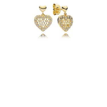 Pandora Shine Honeycomb Lace Drop Earrings  - Click to view larger image