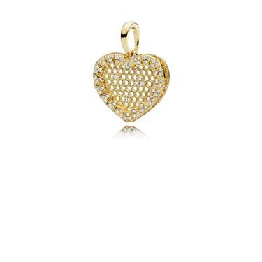 Pandora Honeycomb Lace Shine Pendant  - Click to view larger image