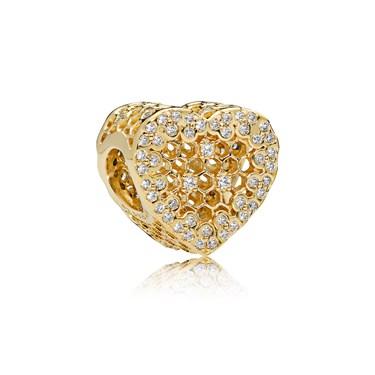 Pandora Shine Honeycomb Lace Charm  - Click to view larger image