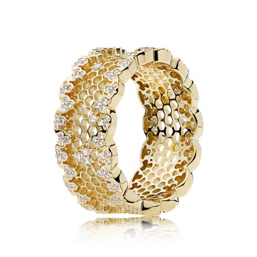 Pandora Shine Honeycomb Lace Ring  - Click to view larger image