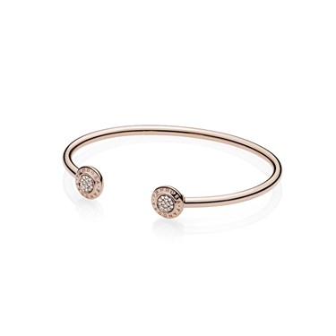 Pandora Rose Signature Open Bangle  - Click to view larger image