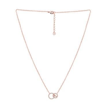Argento Rose Gold  Linked Circles Necklace  - Click to view larger image