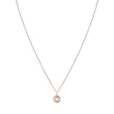 Argento Rose Gold Mix Link Layer Circle Necklace  - Click to view larger image