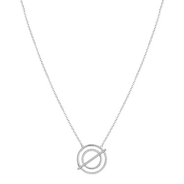 Argento Silver  Layer Bar Necklace  - Click to view larger image