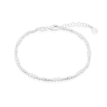 Argento Silver Fine Pearl Bracelet  - Click to view larger image