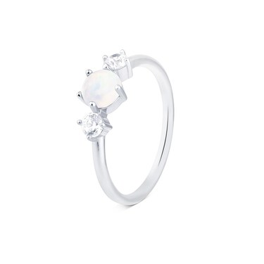 Argento Silver White Opal  Ring  - Click to view larger image