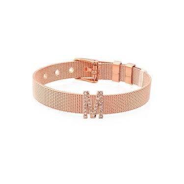 Karma Sparkle M Rose Gold Charm  - Click to view larger image