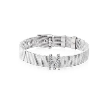 Karma Sparkle M Silver Charm  - Click to view larger image