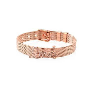 Karma Love CZ Rose Gold Charm  - Click to view larger image