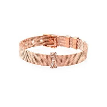 Karma Rose Gold CZ Bow Charm  - Click to view larger image