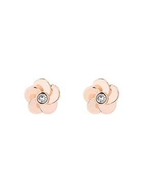 Ted Baker Pelipa Polished Flower Stud Earring  - Click to view larger image