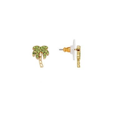 Kate Spade New York California Dreaming Pave Palm Tree Stud Earrings Click To View Larger